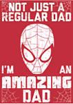 Amazin Dad Man Crew Fleece Graphic Sweatshirt