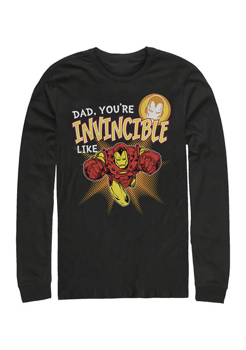 Invincible like Dad Long Sleeve Graphic T-Shirt