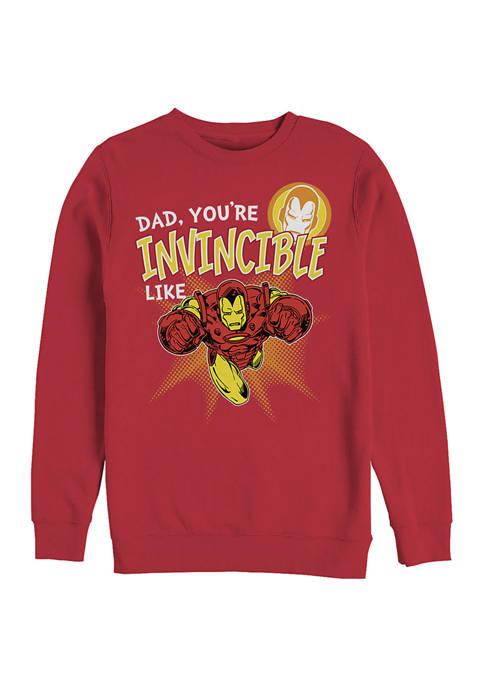 Invincible like Dad Crew Fleece Graphic Sweatshirt