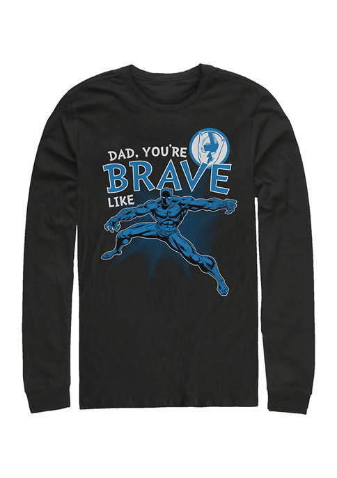 Brave Like Dad Long Sleeve Graphic T-Shirt