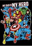 Hero Dad Heros Fleece Graphic Hoodie