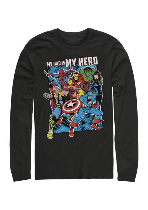 Hero Dad Heros Long Sleeve Graphic T-Shirt