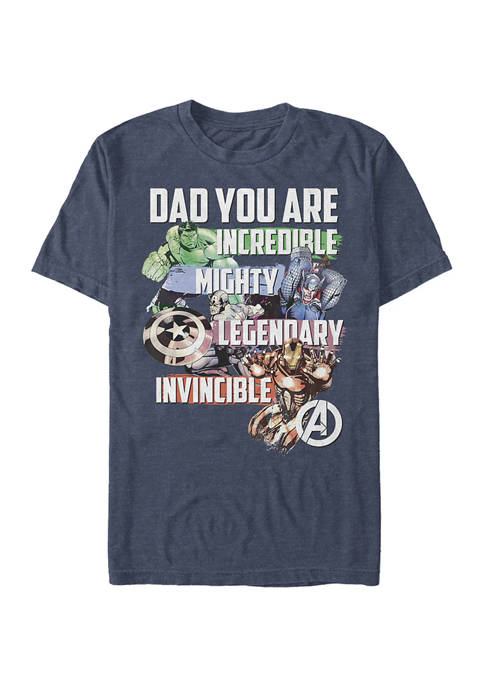 Marvel Avengers Avenger Dad Graphic T-Shirt