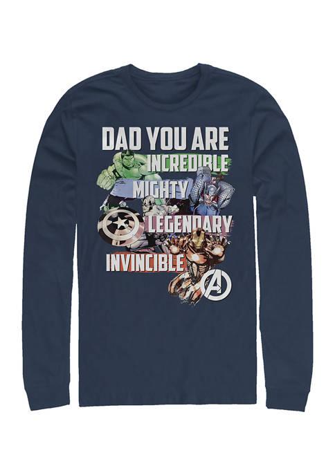 Avenger Dad Long Sleeve Graphic T-Shirt