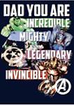Avenger Dad Fleece Graphic Hoodie