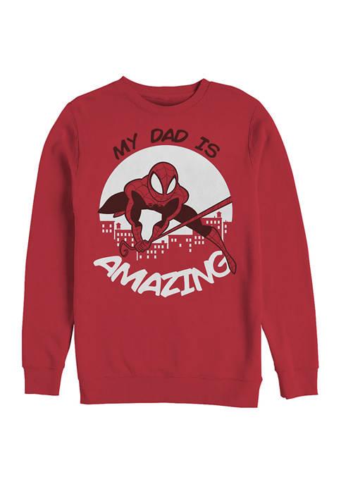 MY DAD IS AMAZING Crew Fleece Graphic Sweatshirt