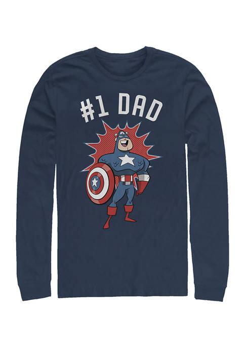No. 1 Dad Long Sleeve Graphic T-Shirt