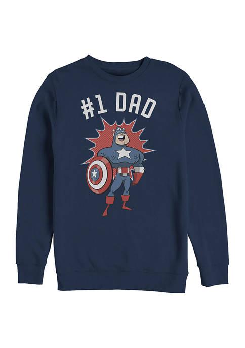 No 1 DAD Crew Fleece Graphic Sweatshirt