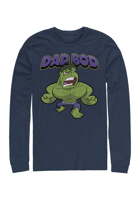 Dad Bod Long Sleeve Graphic T-Shirt