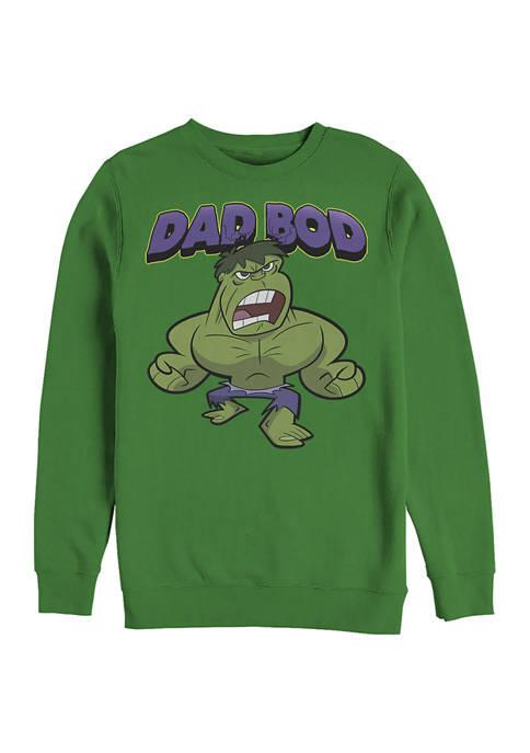 DAD BOD Crew Fleece Graphic Sweatshirt