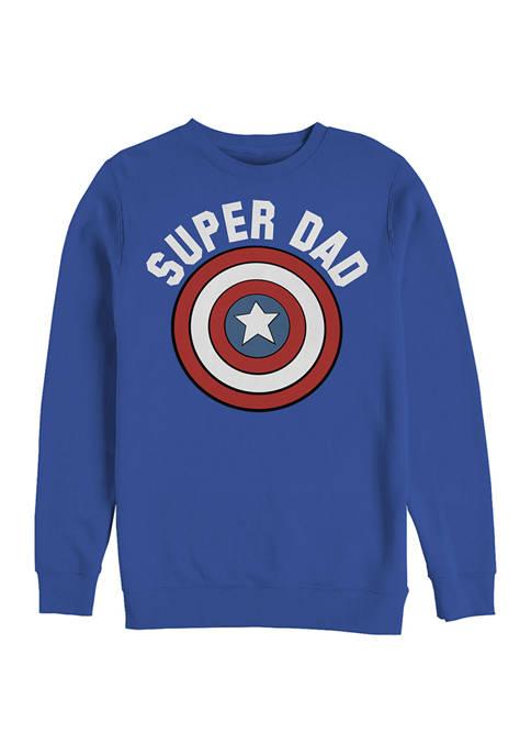SUPER DAD Crew Fleece Graphic Sweatshirt