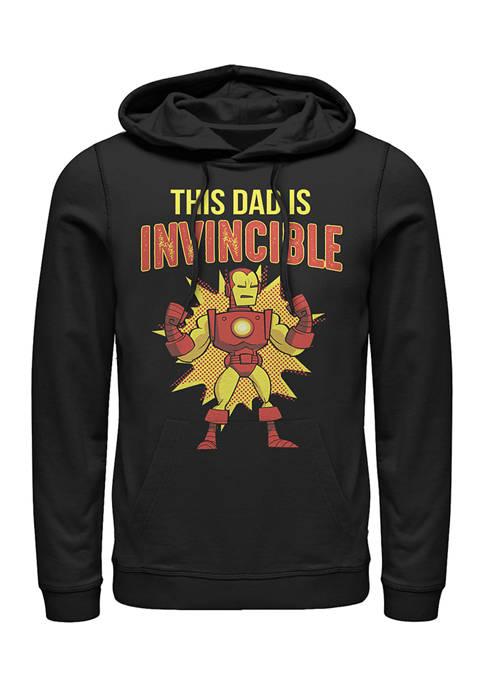 This Dad is Invincible Fleece Graphic Hoodie