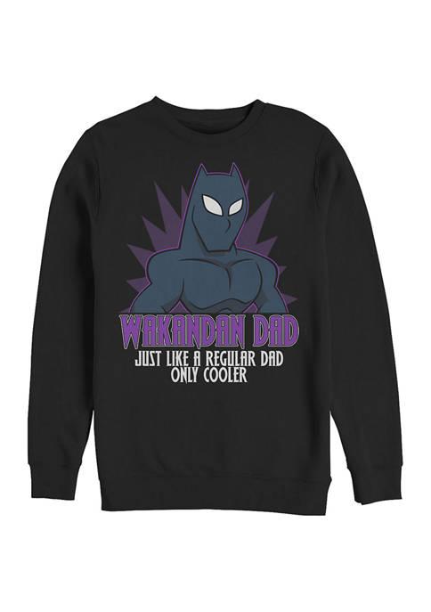 Marvel™ WAKANDAN DAD Crew Fleece Graphic Sweatshirt