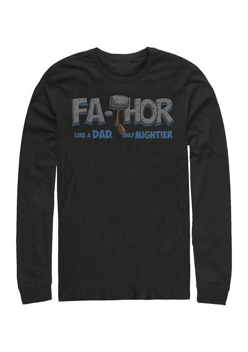 Marvel™ Mighty FaThor Long Sleeve Graphic T-Shirt
