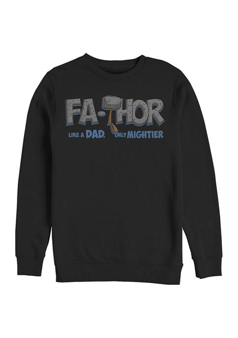 Marvel™ Mighty FaThor Crew Fleece Graphic Sweatshirt