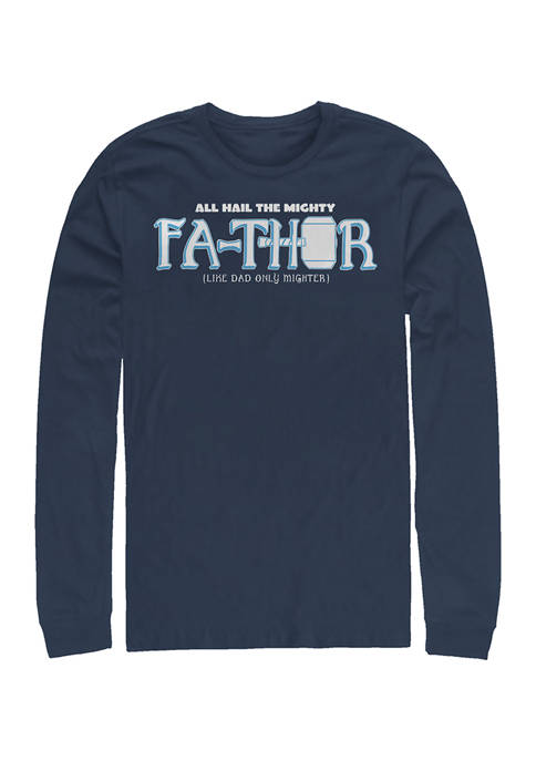 Mighty FaThor Long Sleeve Graphic T-Shirt