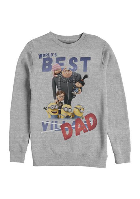 Minions Worlds Best Crew Fleece Graphic Sweatshirt
