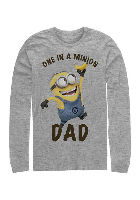Minions Only Minion Long Sleeve Graphic T-Shirt