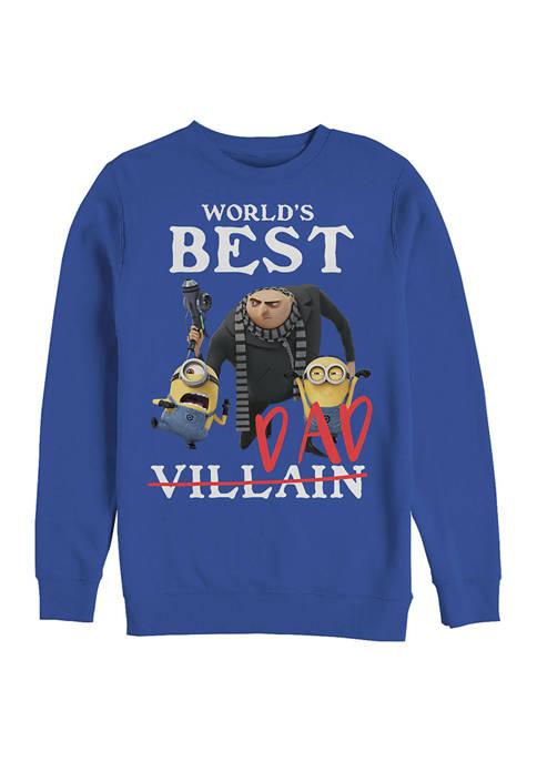 Best Villiain Crew Fleece Graphic Sweatshirt