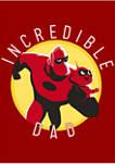 Incredible Dad Circle Graphic T-Shirt