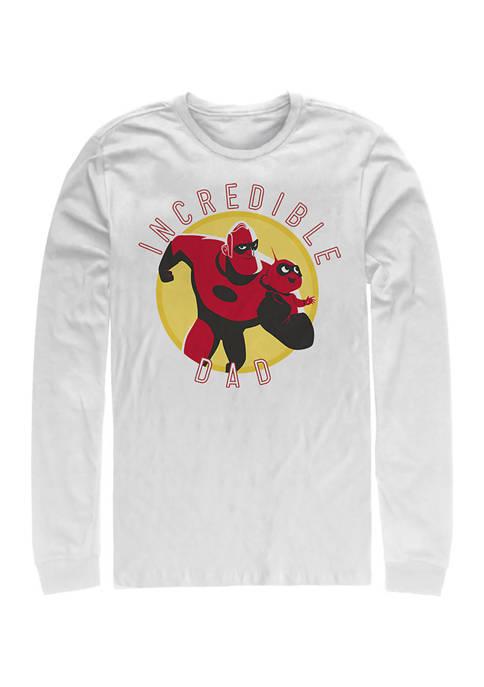Incredible Dad Circle Long Sleeve Graphic T-Shirt