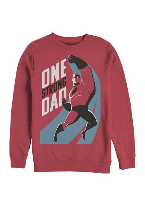 Strong Dad Crew Fleece Graphic Sweatshirt