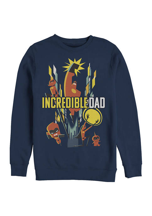 Dad Family Crew Fleece Graphic Sweatshirt