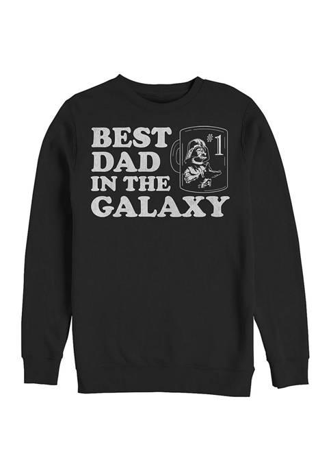Galactic Dad Crew Fleece Graphic Sweatshirt