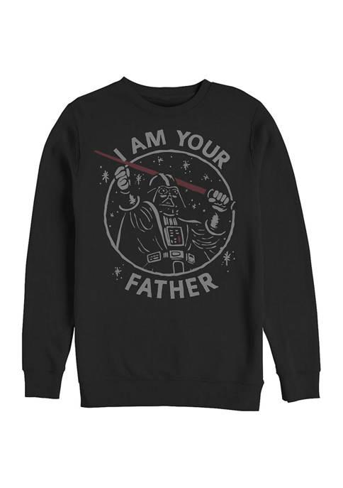 Vader Dad Crew Fleece Graphic Sweatshirt