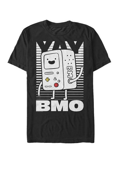 Adventure Time BMO Wave YAY Short Sleeve T-Shirt