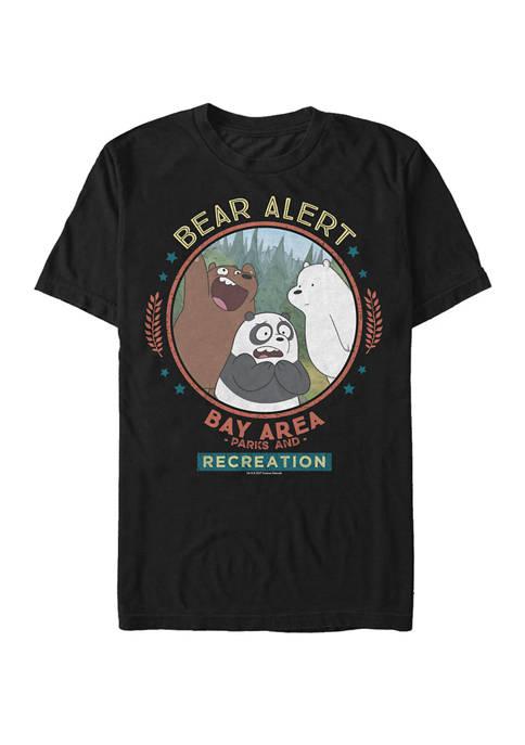 We Bare Bears Bay Area Bear Alert Circle Short Sleeve Graphic T-Shirt