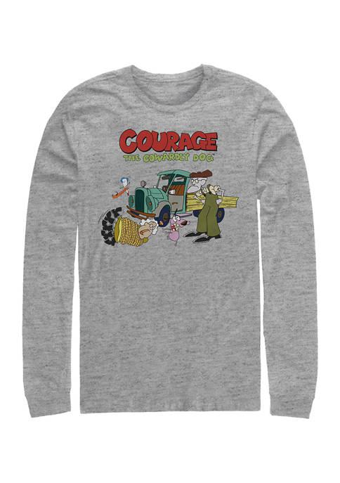 Cartoon Network Juniors Logo Scene Graphic Long Sleeve