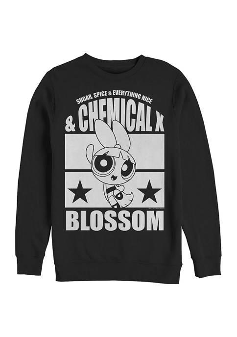 Cartoon Network Juniors Street Blossom Graphic Crew Fleece