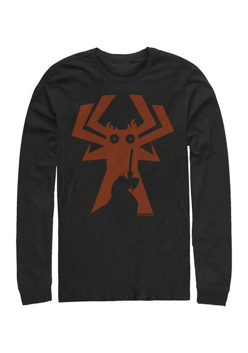 Juniors Jaku Silhouette Comp Graphic Long Sleeve T-Shirt