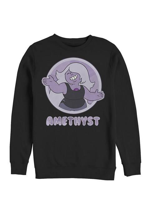 Cartoon Network Amethyst Graphic Crew Fleece Sweatshirt