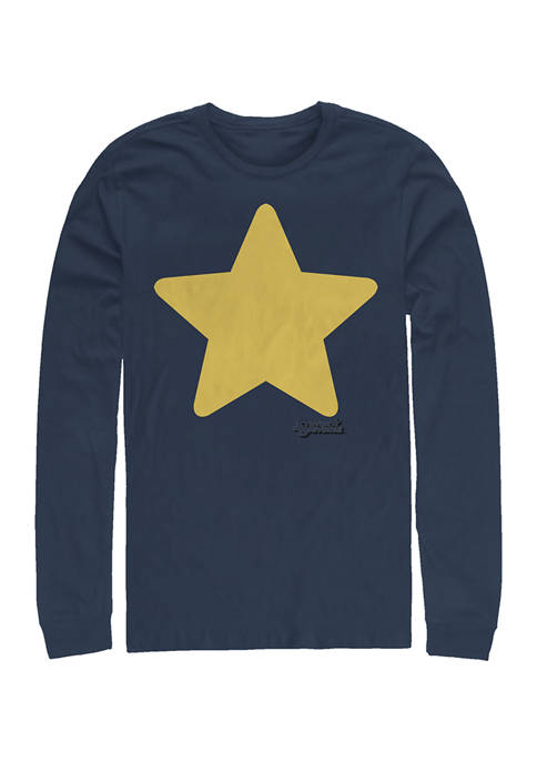 Cartoon Network Steven Star Graphic Long Sleeve T-Shirt