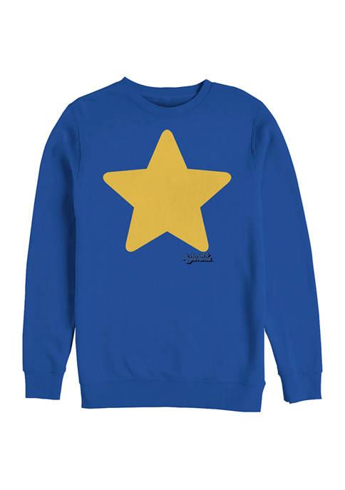 Cartoon Network Steven Star Graphic Crew Fleece Sweatshirt