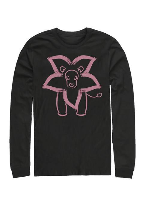 Cartoon Network Lion Graphic Long Sleeve T-Shirt
