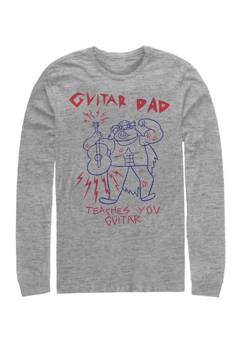 Cartoon Network Guitar Dad Graphic Long Sleeve T-Shirt