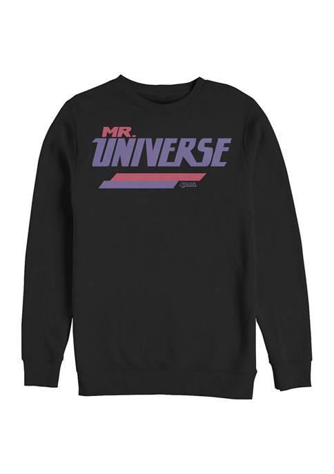 Cartoon Network Mr Universe Graphic Crew Fleece Sweatshirt