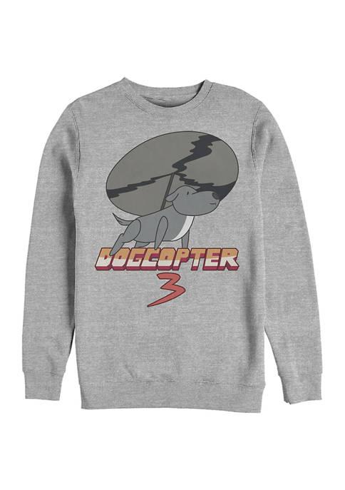 Cartoon Network Dogcopter Graphic Crew Fleece Sweatshirt