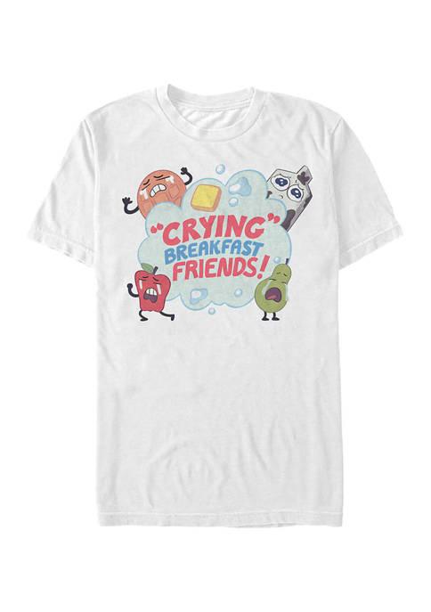 Cartoon Network Crying Breakfast Friends Graphic T-Shirt