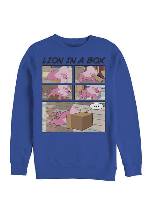 Cartoon Network Flower Lion Graphic Crew Fleece Sweatshirt