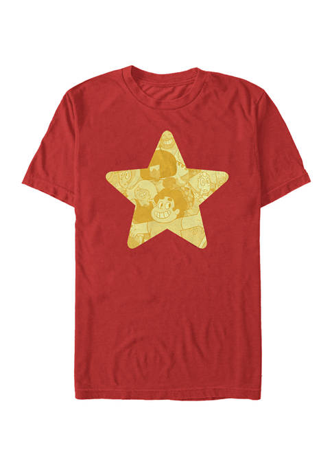 Stevens Universe Gold Star Short Sleeve Graphic T-Shirt