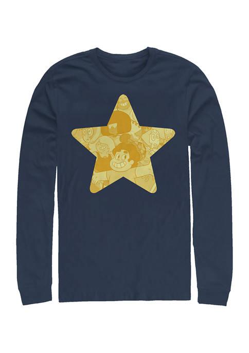 Juniors Steven Star Graphic Long Sleeve T-Shirt