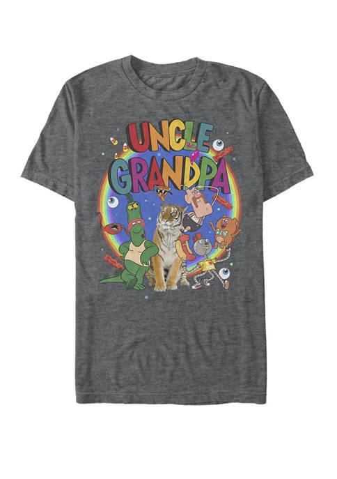Uncle Grandpa The Whole Crew Logo Rainbow Short Sleeve Graphic T-Shirt