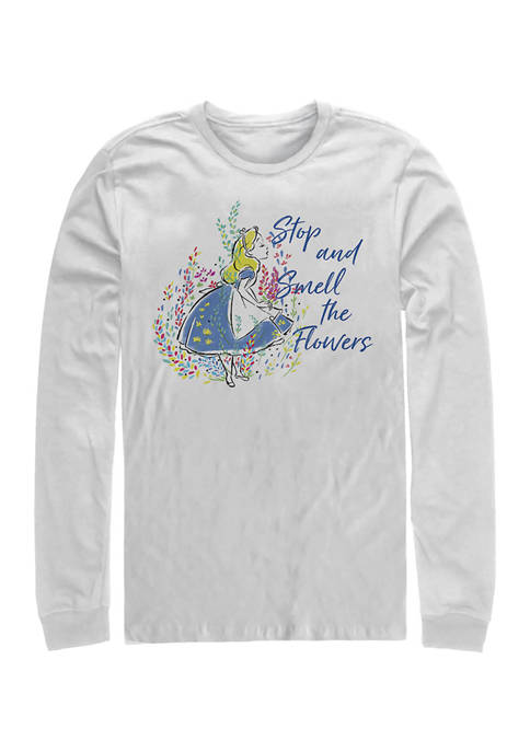 Disney® Smell the Flowers Long Sleeve Crew Graphic