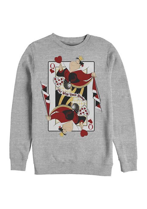 Disney® Queen of Hearts Crew Fleece Graphic Sweatshirt