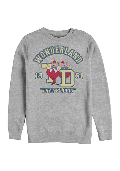 Disney® Tweedle Collegiate Crew Fleece Graphic Sweatshirt
