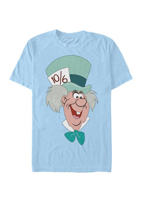 Disney® Mad Hatter Big Face Short Sleeve Graphic